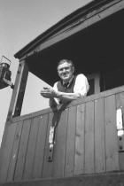 Guard Tommy Fagan on his veranda, July 1977.