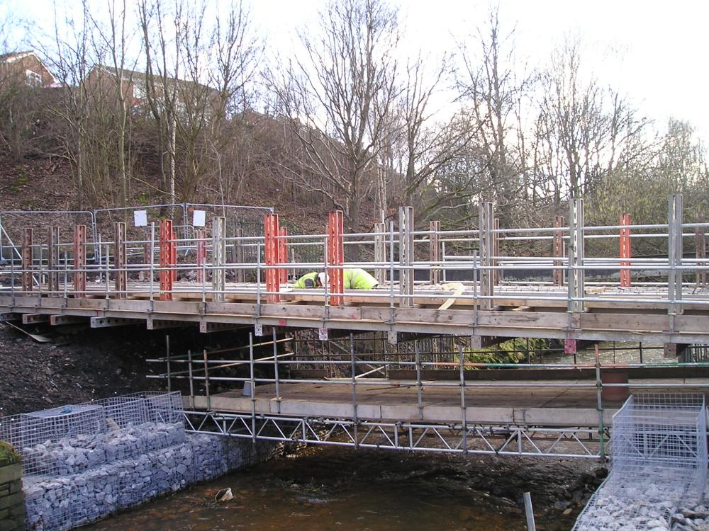 Footbridge under construction. 10-02-10.
