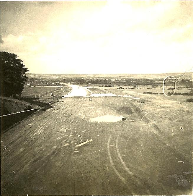 Looking North from the Orrell Mount Bridge.24-08-1962