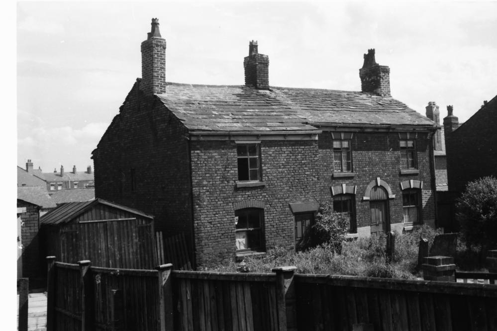 Houses rear of Bridge Street, Hindley, 1962