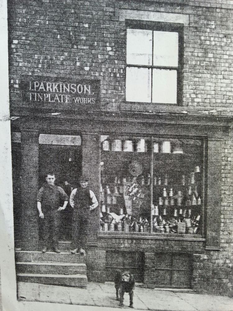 66 Millgate, Wigan. Isaac Parkinson. Tinplate Works