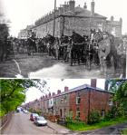 Bolton House Road, Bickershaw, then and now.