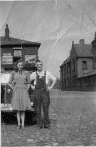 Mr Mrs Carney In Prescott Yard Off Scholefield Lane circa 1950s