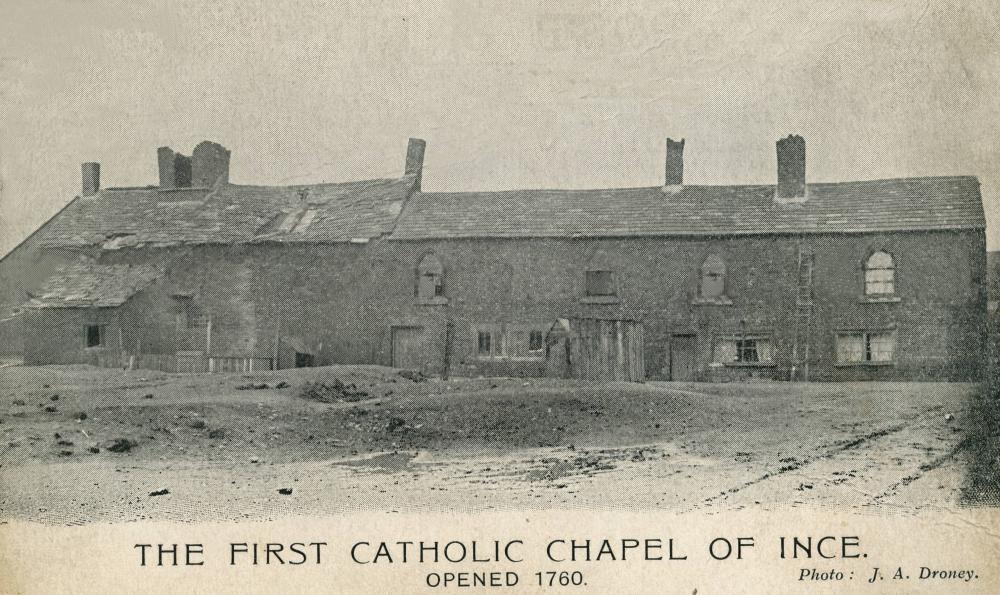 First Catholic Chapel in Ince 1760