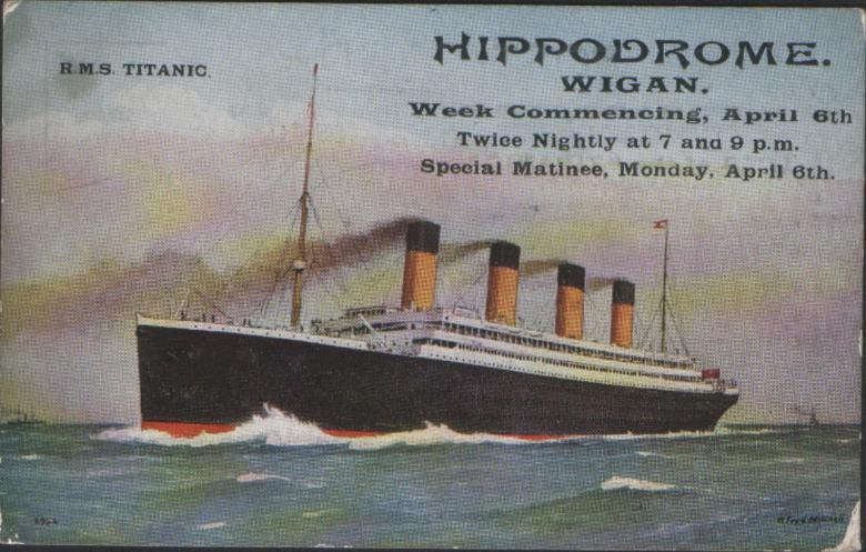 Old Wigan postcard from Hippodrome, c1936.