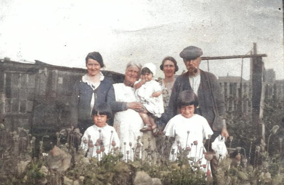 Foot family at Old Mill House, early 1930s