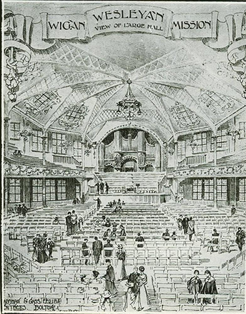 Drawing of the Hall Interior