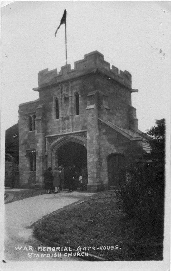 War Memorial Gatehouse, Standish Church.
