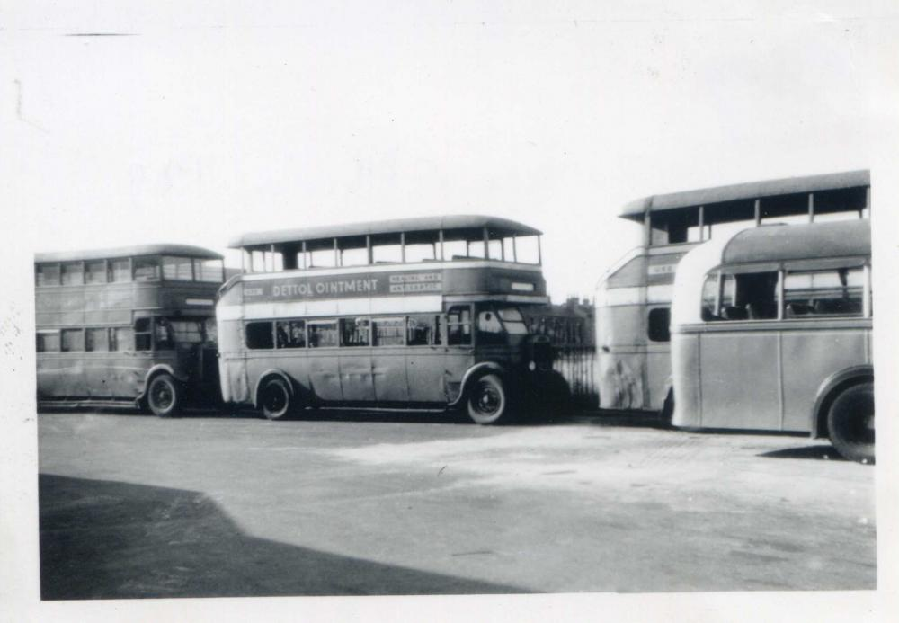 Buses at Atherton in 1949