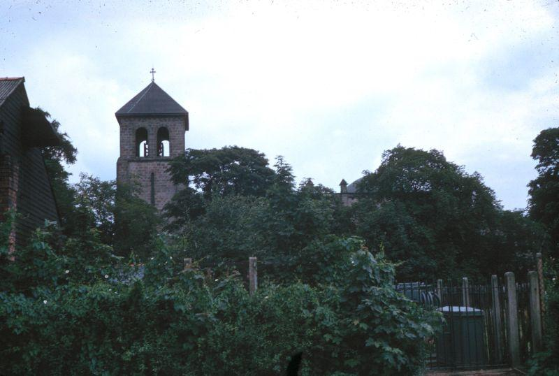 Behind St Oswald's Church, 1964.