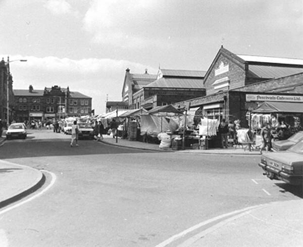 Woodcock Street and Market Hall, early 1970's.