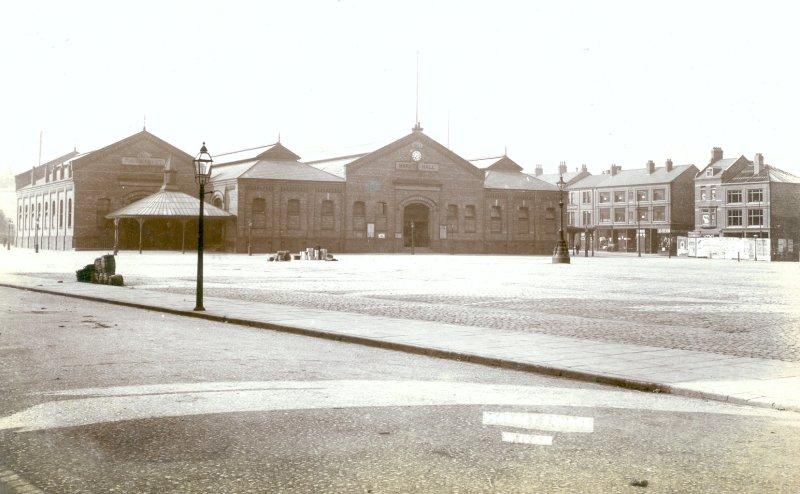 Market Square, Wigan. Scanned from an old postcard.