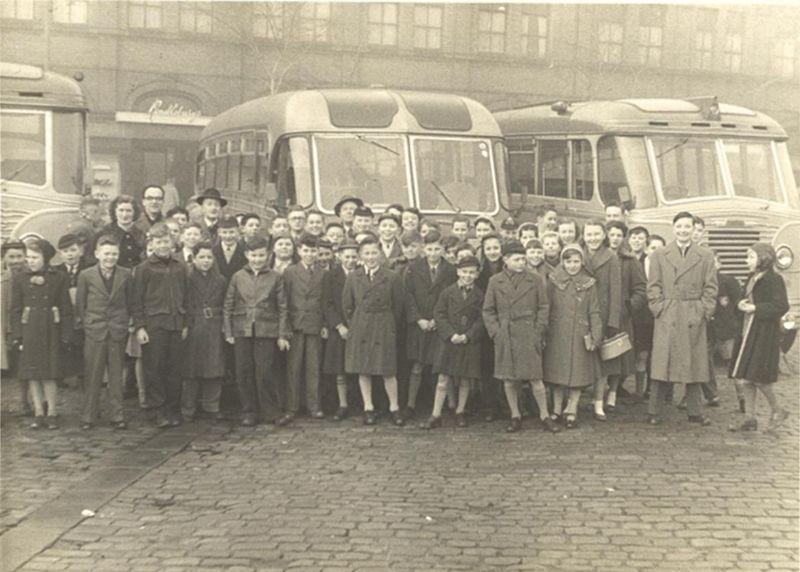 Swinley Labour Club's trip to Southport, 1955.