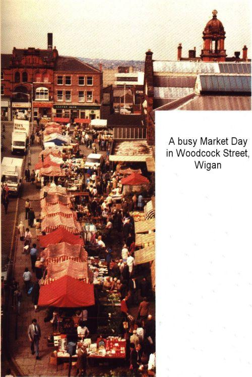 Busy Market Day in Woodcock Street.