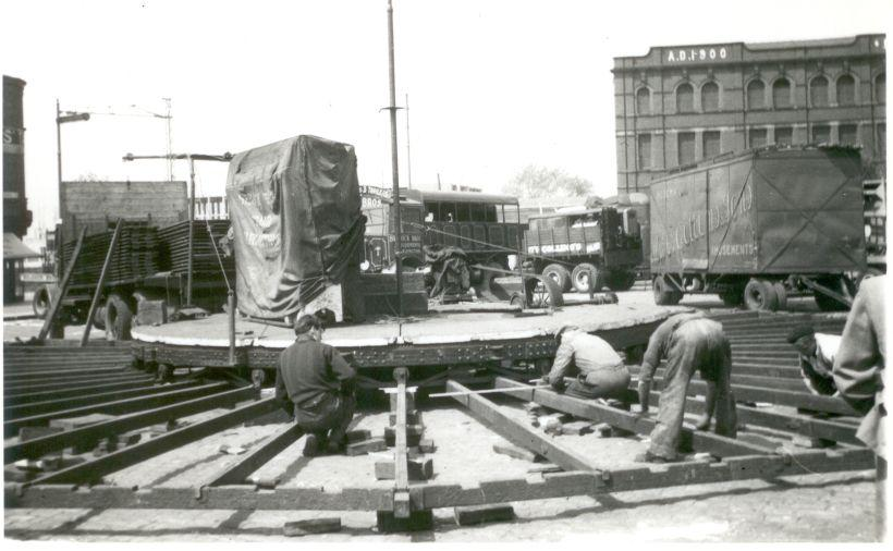 Ted Silcock's Swirl being built. 1953.