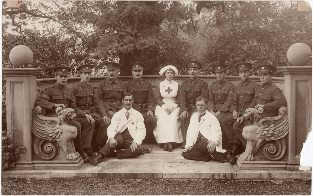 Garswood hall military convalescent hospital 1918