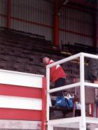Geoff in the Douglas Stand.