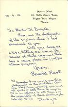 Letter from H Hunt 25.09.1952