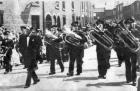 Haigh Prize Band -Whit Walk , Wellington Street, Scholes c1957