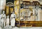 Drawing of Whalley's Temperance Bar from original photo, c1930.