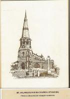 St.Wilfred's Parish Church-Drawing by Robert Overton