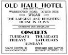 1950s advert for the Hall of Ince Hotel