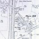 Old map of Thorn Hill showing Mere Oaks