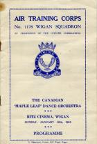 Programme for concert at the RITZ cinema. Jan 10th 1943