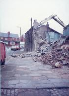 Miners cottages in Billinge Road being demolished