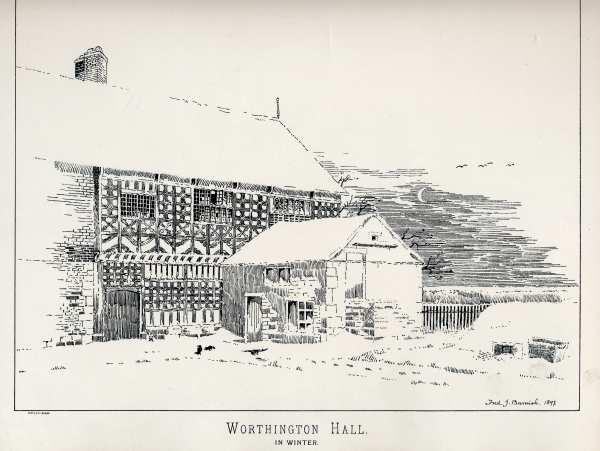 Old Print WORTHINGTON HALL