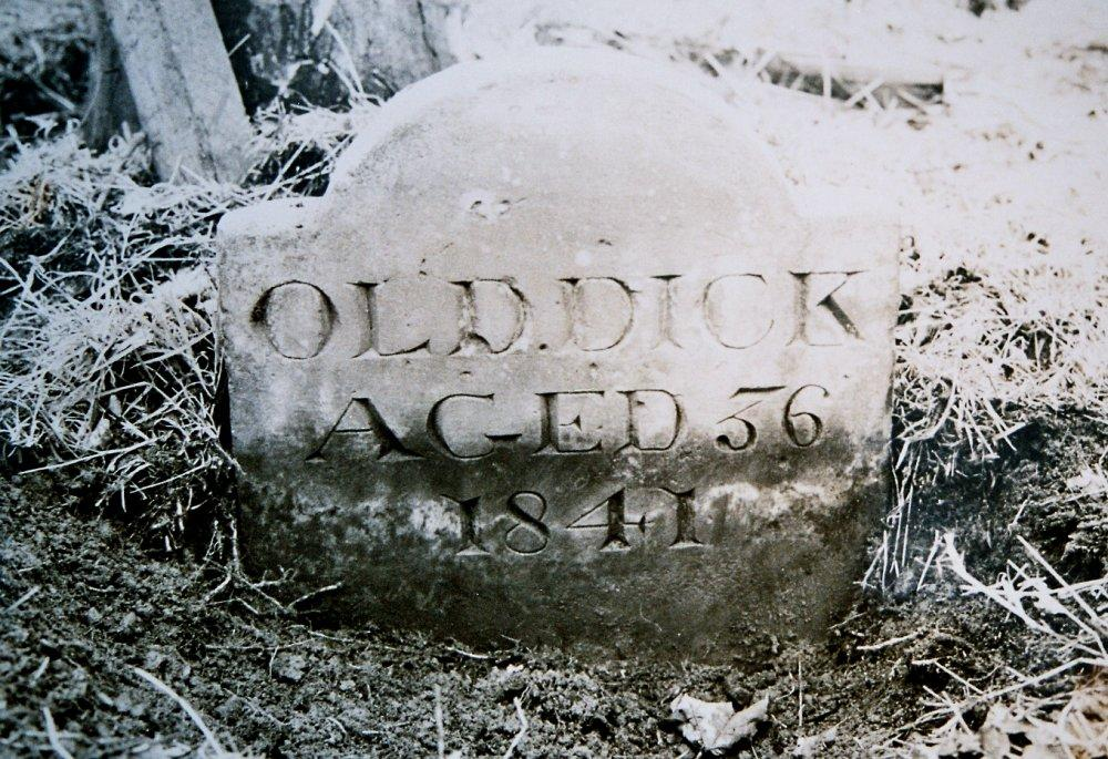Old Dick gravestone