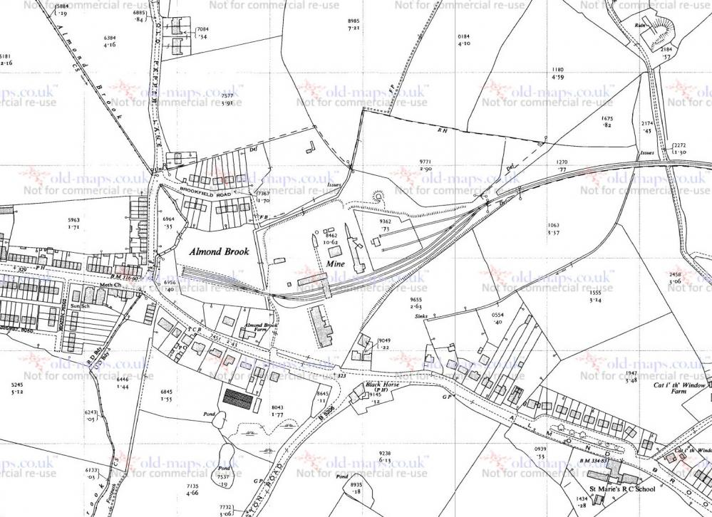 Robin Hill Colliery Map