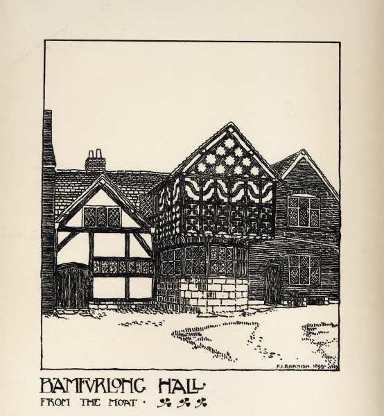 Old print of Bamfurlong Hall
