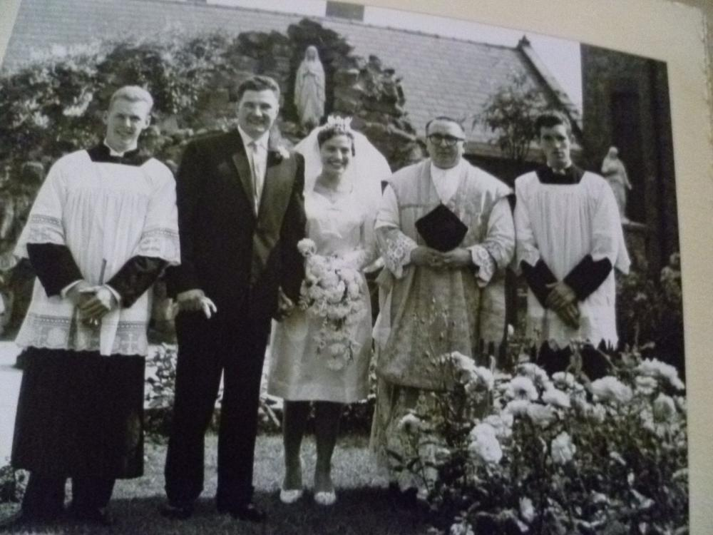 Taken after our marriage, 2nd September,1961.