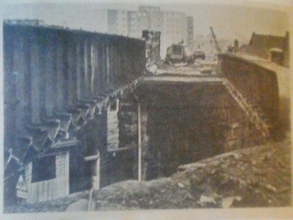 Demolition of railway bridge