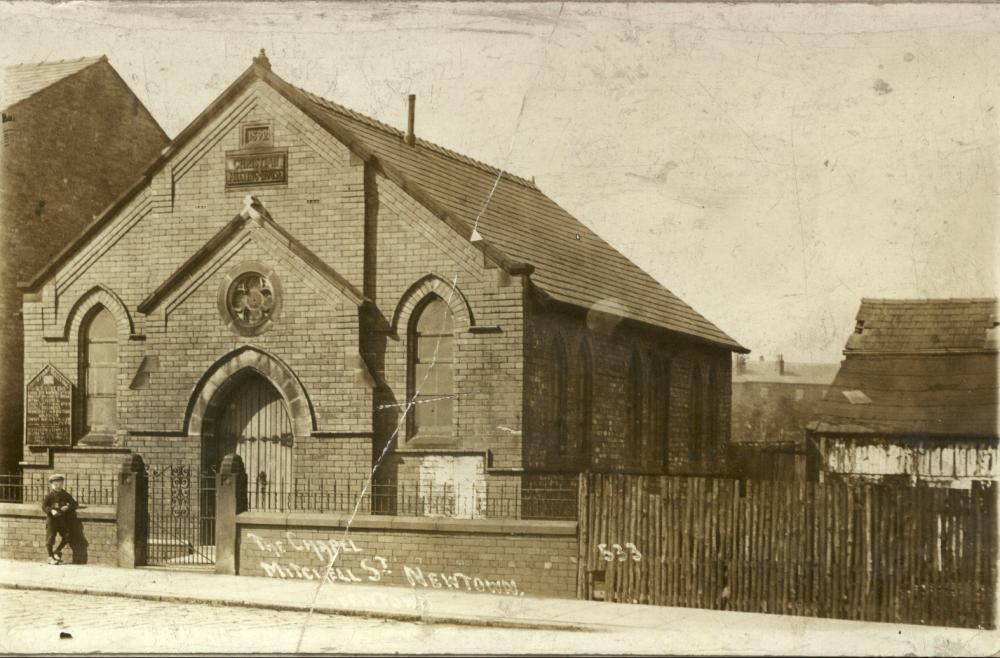 The chapel soon after construction in 1892