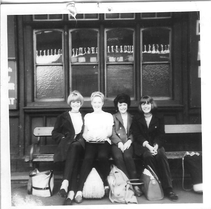 With Wigan friends 1964 at Wigan station waiting for train to Southport...