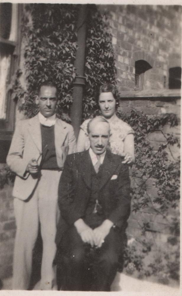 George Myers with his son and daughter