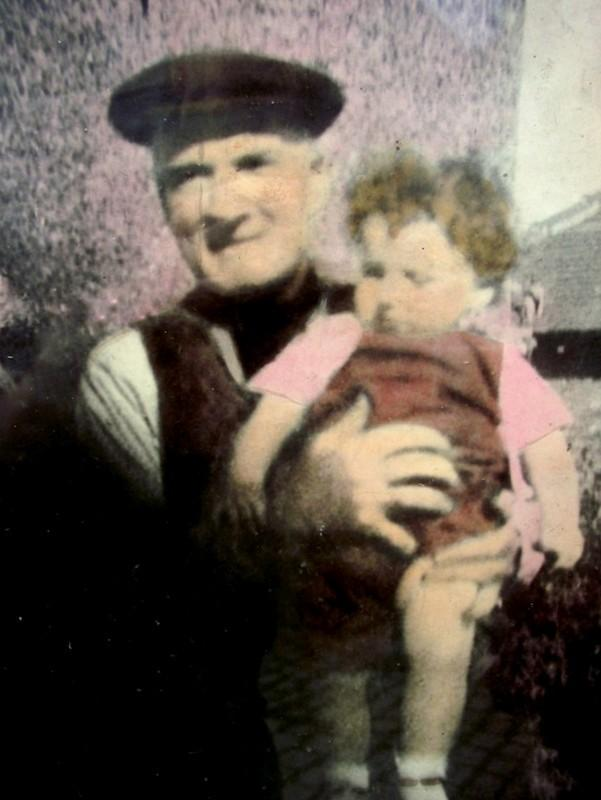 Henry Crook with his granddaughter Veronica Scott