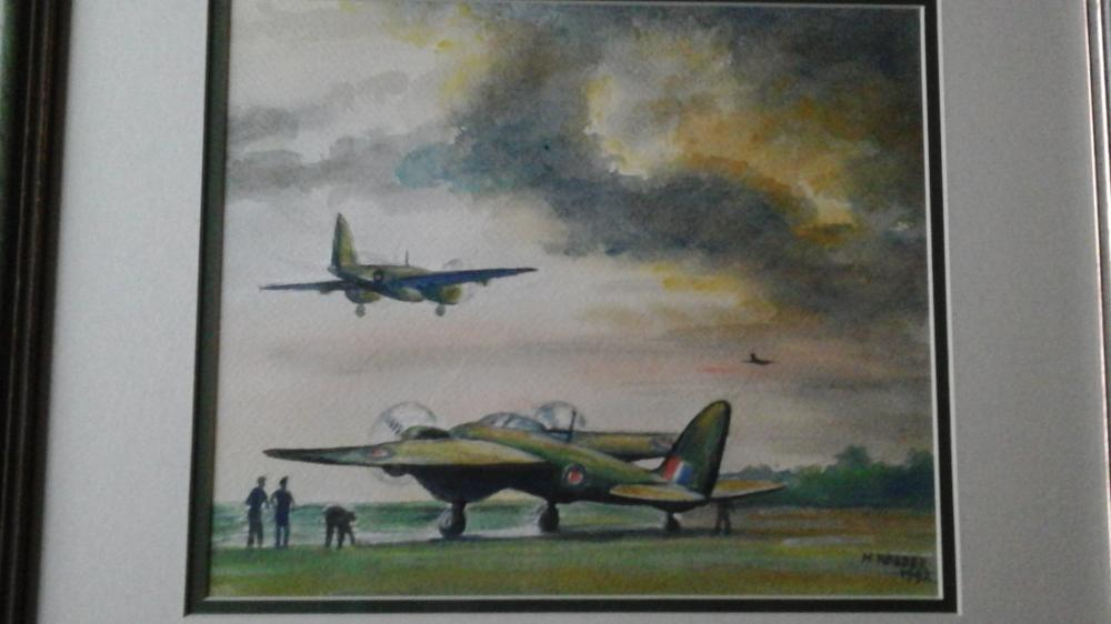 Water colour painting by Harry Walder