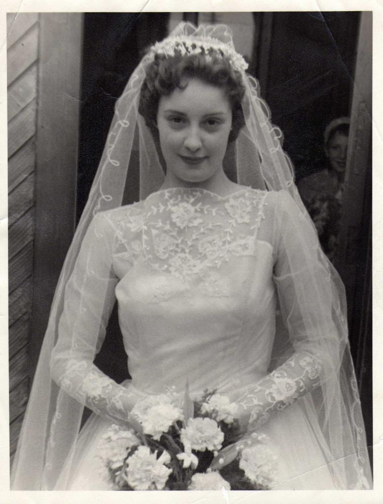 grandma's wedding 1958