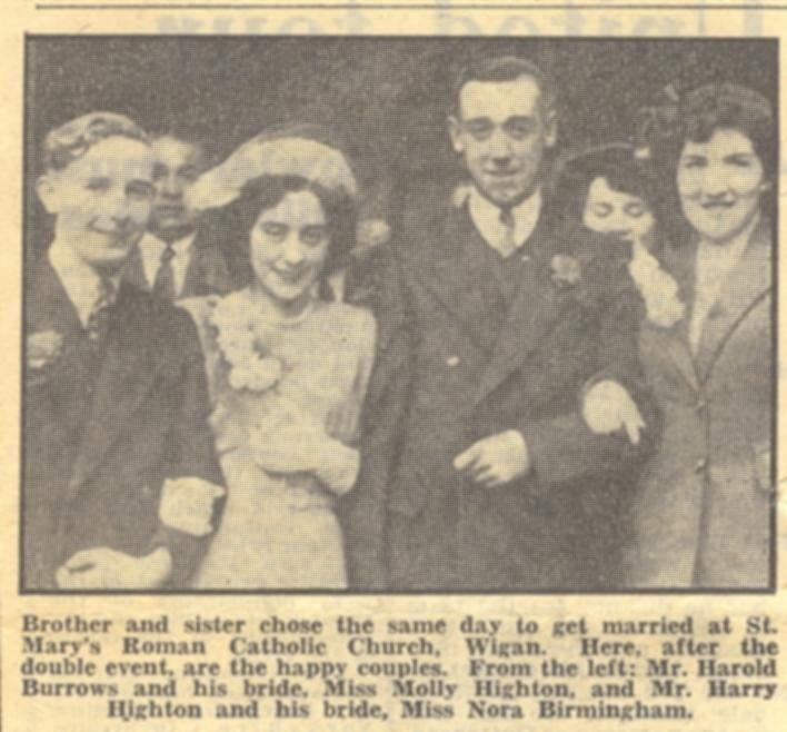 Double wedding at St Mary's, 1951.