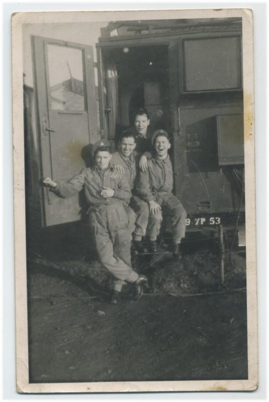 Sam Penman with army pals. c.1949/50