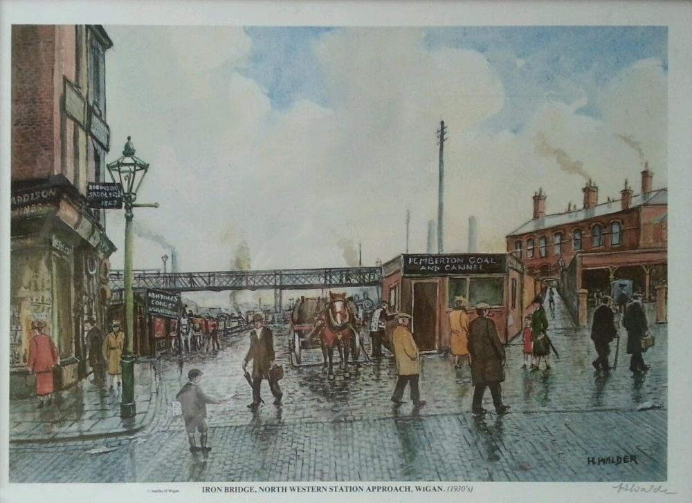 WIGAN NORTH WEST STATION 1930's