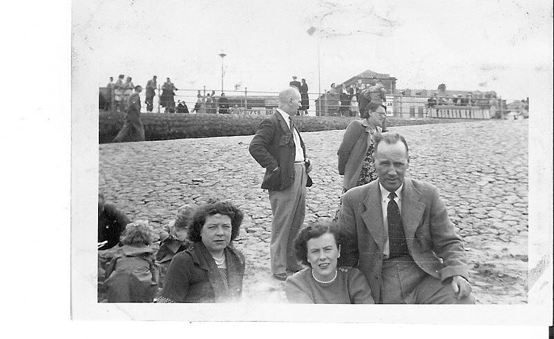 Grandma, Granddad Critchley and Mum Doreen at Blackpool circa 1950