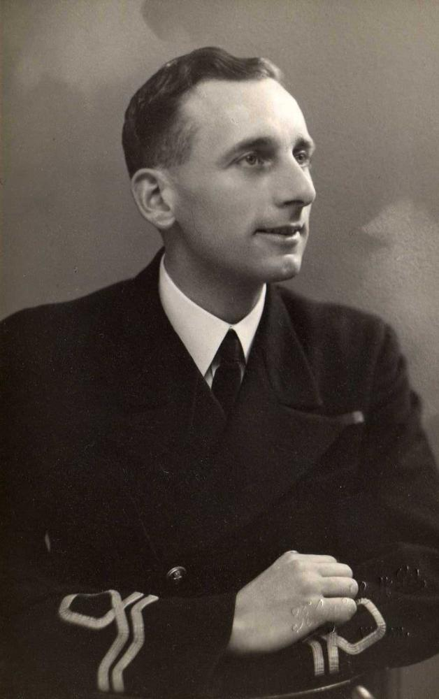 Clifford Rigby in naval uniform - 1940s