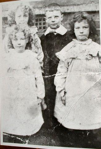 Joseph Marsh with his 3 sisters, Mary, Agnes and Ann. c1910.