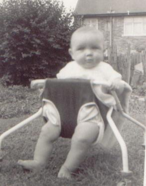 John in Dads back yard Bryn when he was a baby