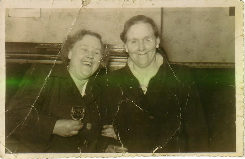 Auntie Lily Hargreaves and Auntie Winifred Tocker Both Nee Perry.