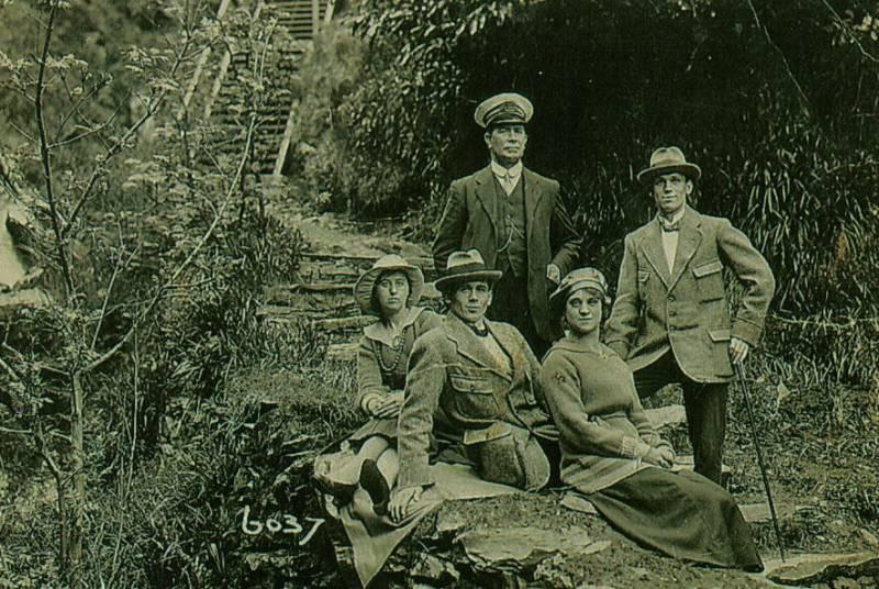 Two Wigan couples visiting the Isle of Man, 1920s.